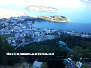 A view from the gondola ride at Queenstown Skyline